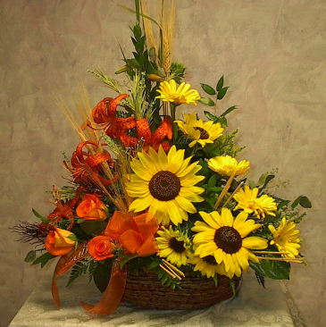 Sunflower bright fresh cut arrangement