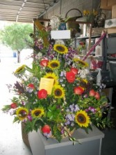 Sunflower Burst Basket