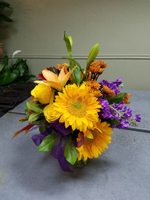 Sunflower burst Vase arrangement