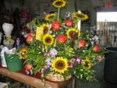 Sunflower Bust Basket