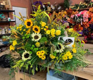 Sunflower Casket Blanket Casket Flowers