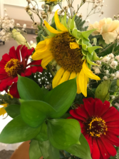 Sunflower Center Sympathy Flowers