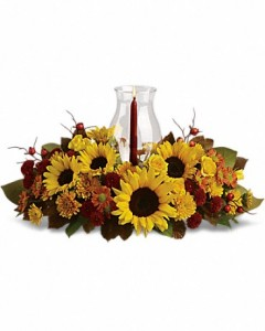 Sunflower Centerpiece by Telelfora Thanksgiving
