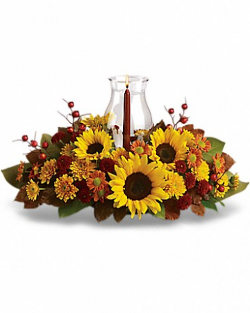 "Sunflower Centerpiece T170-1 21""(w) x 12""(h)"