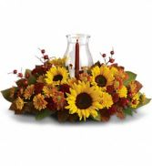 Sunflower centerpiece Thanksgiving Flowers