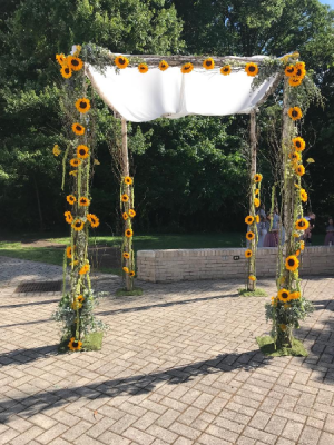 Sunflower Chuppah  in Teaneck, NJ | Teaneck Flower Shop (A.A.A.A.A.)