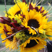 Sunflower Countryside Bride's Bouquet