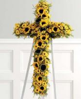 Sunflower Cross Cross Funeral