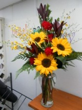 Sunflower Delight Vase Arrangement