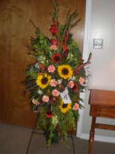 SUNFLOWER EASEL FUNERAL FLOWERS