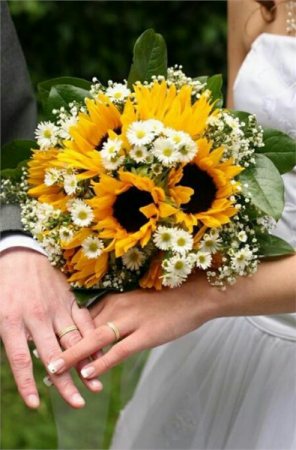 Sunflower Embrace Bridal Bouquet