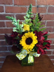 "Sunflower ""Field"" Day Fall Arrangement"
