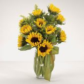 Sunflower Fields Vase Arrangement