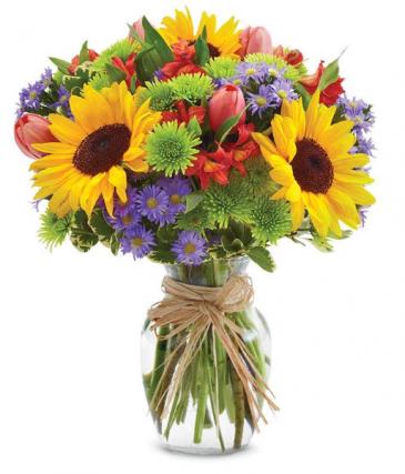 Sunflower floral garden