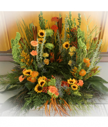Sunflower Garden Wreath (for Urn or Photo Cremation Garden