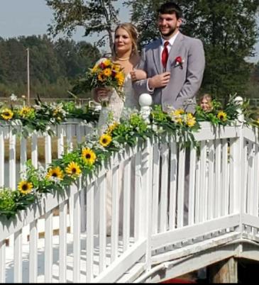 Sunflower Garland Wedding Decorations