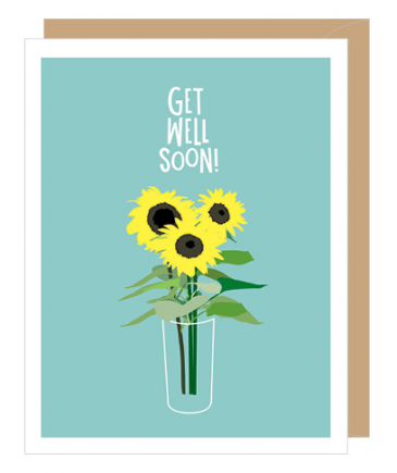 Sunflower Get Well Soon Greeting Card