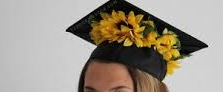 SUNFLOWER GRAD CAP PIECE GRADUATION CAP/HEADPIECE