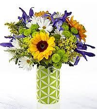 Sunflower Green Look Sunflower arrangement