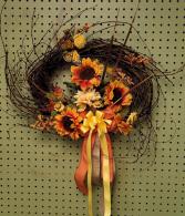 Sunflower Harvest Fall SILK wreath