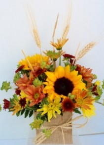 Sunflower harvest Fresh flower arrangement