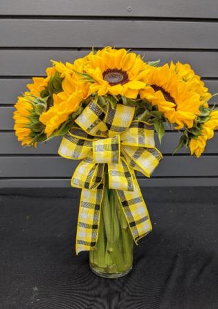 Sunflower Kind of Day Vase Arrangement