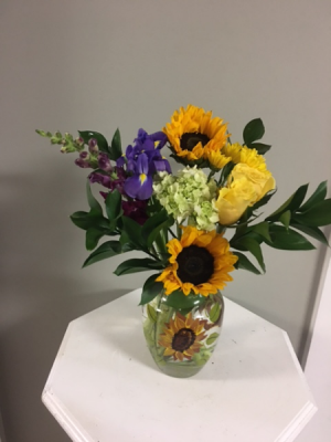 "Sunflower Kiss  in Toccoa, GA | TARA'S ""HAPPIES"" FOR YOU FLORAL & GIFT SHOP"