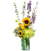Sunflower N Blue Arrangement