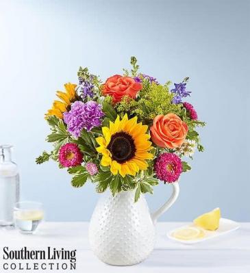 Sunflower Pitcher Mix Of Florals