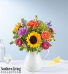 Sunflower Pitcher Mix Of Florals
