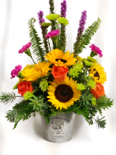 SUNFLOWER POWER!  Flower Arrangement