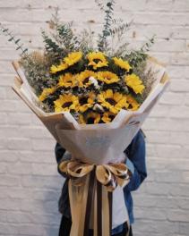 Sunflower Presentation Bouquet