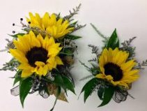 SUNFLOWER SET 1 CORSAGE AND BOUT SET