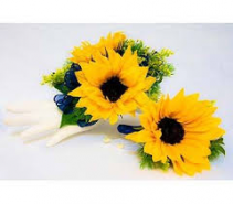 SUNFLOWER SET 2 CORSAGE AND BOUT SET