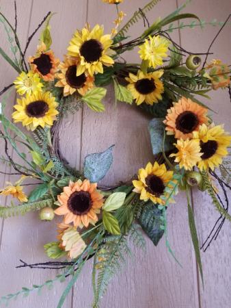 Sunflower silk wreath