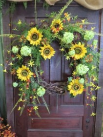 Sunflower Silk Wreath Artificial Wreath