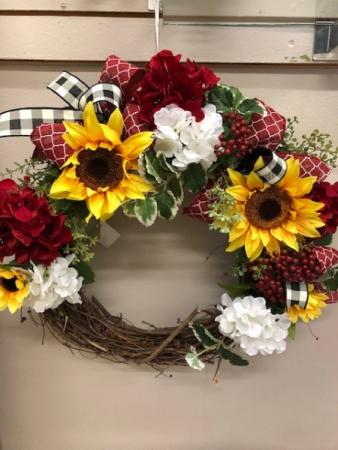 Sunflower summer wreath