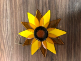 Sunflower suncatcher Handmade fused glass