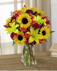 SUNFLOWER SUNRISE Vase Arrangement in Longview, TX | ANN'S PETALS