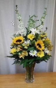 Sunflower sunset Vase