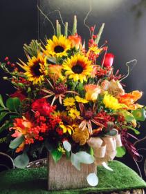 Sunflower suprise Fall bouquet
