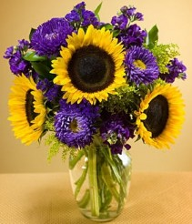 SUNFLOWER SURPRISE VASE ARRANGMENT