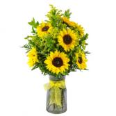 sunflower surprise fresh arrangement