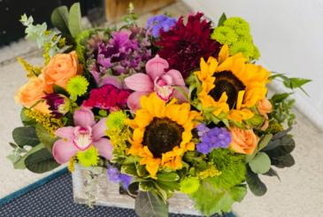 Sunflower Surprise Wooden Box