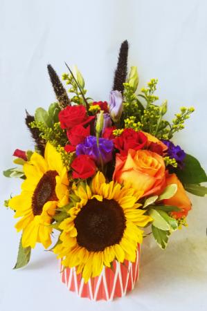 Sunflower Surprise Vased