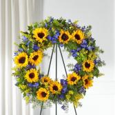 Sunflower Sympathy Wreath
