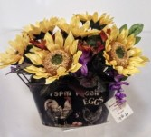 Sunflower Tin Silk Arrangement Fall/Harvest