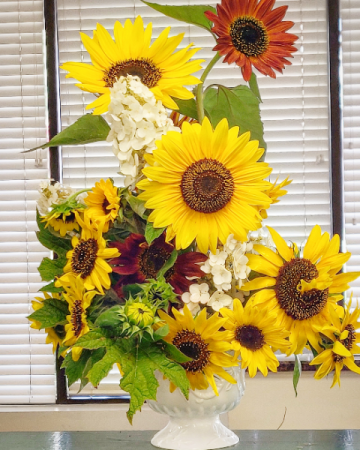 Sunflower Urn