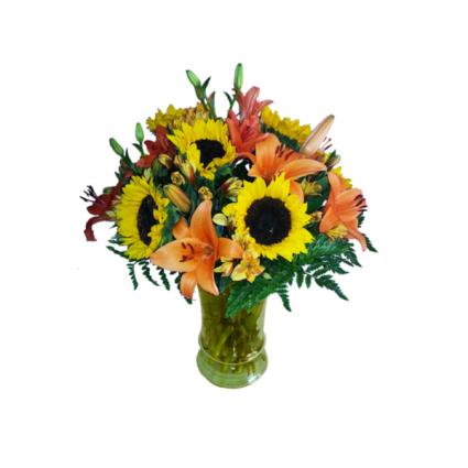 sunflower vase arrangement