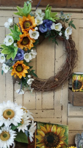 Sunflower Wreath Silks